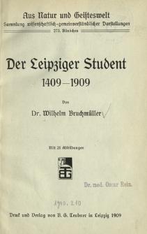 Der Leipziger Student 1409-1909