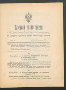 Dziennik Rozporządzeń c. i k. Jeneralnego Gubernatorstwa Wojskowego dla austryacko-węgierskiego obszaru okupowanego w Polsce 1915, Cz. 3 (20 list.)
