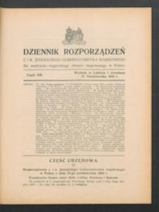 Dziennik Rozporządzeń c. i k. Jeneralnego Gubernatorstwa Wojskowego dla Austryacko-Węgierskiego Obszaru Okupowanego w Polsce 1916, Cz. 13 (27 paźdz.)