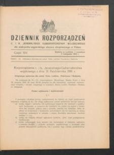 Dziennik Rozporządzeń c. i k. Jeneralnego Gubernatorstwa Wojskowego dla Austryacko-Węgierskiego Obszaru Okupowanego w Polsce 1916, Cz. 14 (3 list.)