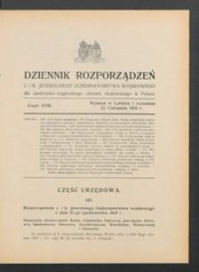 Dziennik Rozporządzeń c. i k. Jeneralnego Gubernatorstwa Wojskowego dla Austryacko-Węgierskiego Obszaru Okupowanego w Polsce 1916, Cz. 18 (22 list.)